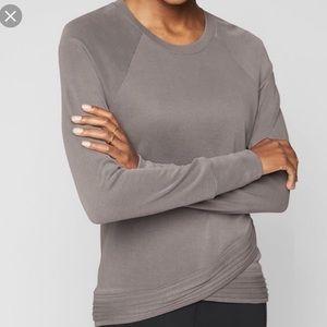 Athleta serenity cross long sleeved shirt